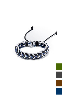 TWO TONE TWIST BRACELET투톤 트위스트 팔찌[4color / one size]