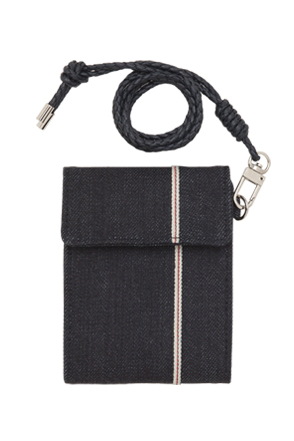 AWESOME IMAGINATION SELVEDGE DENIM COIN WALLET Dark-Denim