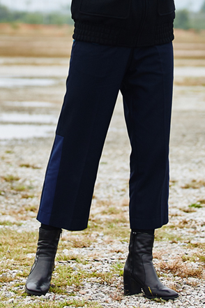 AWESOME IMAGINATION COMBINATION SEMI WIDE SLACKS Navy