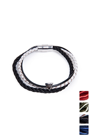 LOVE SILK BRACELET 러브 실크 팔찌 [4color / one size]
