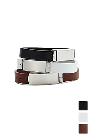 LEATHER BELT BRACELET 가죽 벨트 팔찌 [3color / one size]