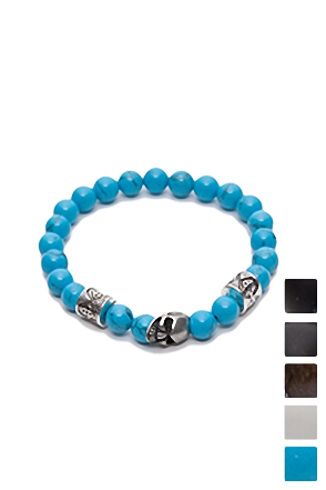 DICE SKULL POINT BRACELET 해골 주사위 팔찌 [5color / one size]