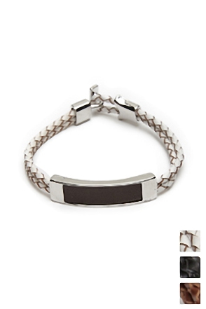 RECTANGLE LEATHER BRACELET 사각 가죽 팔찌 [3color / one size]